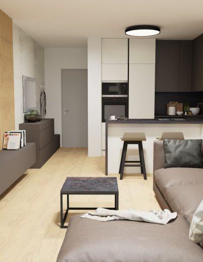 Luxusná kuchyňa s obývačkou